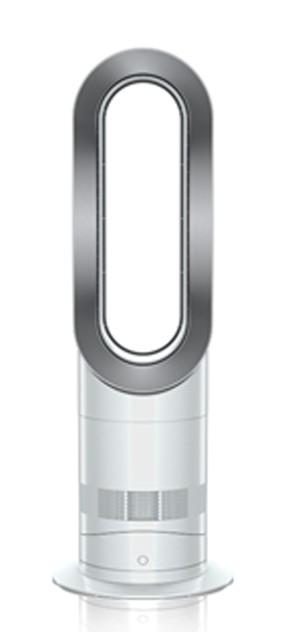 dyson hot cool fan heater white nickel am09. Black Bedroom Furniture Sets. Home Design Ideas