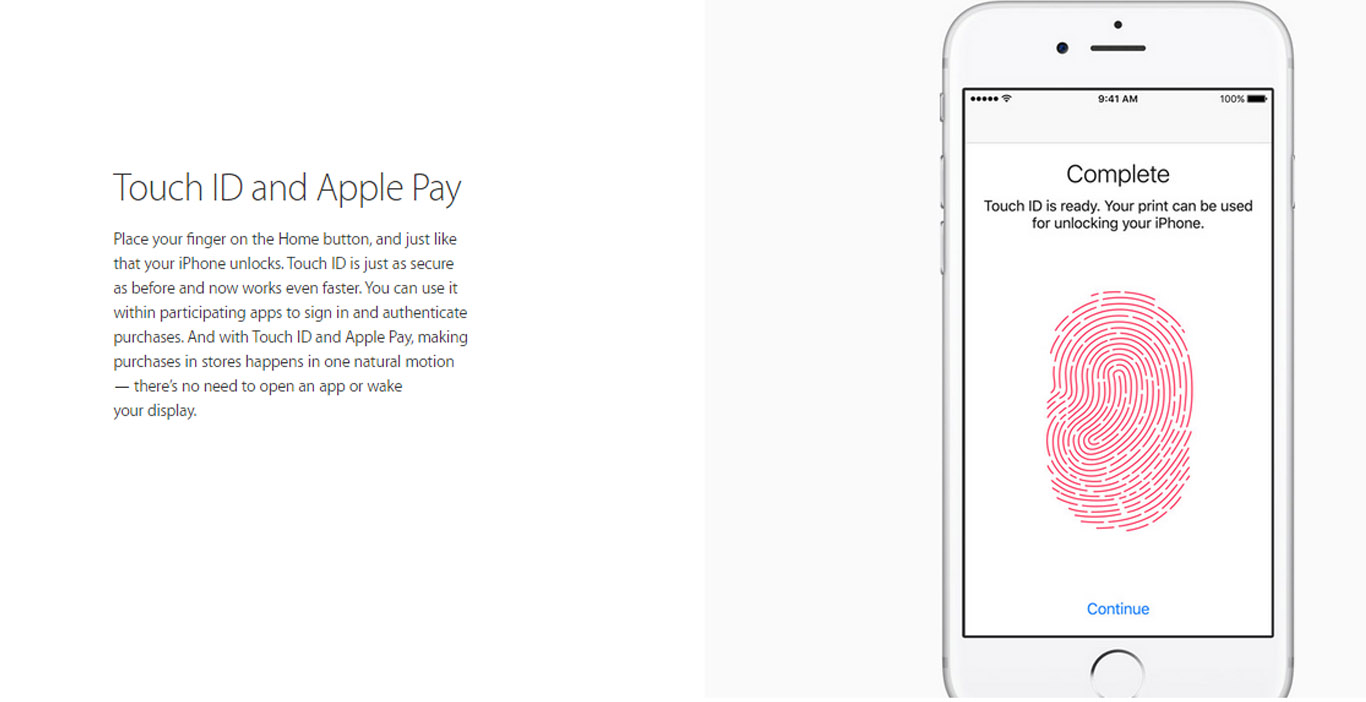 Touch ID and Apple Pay